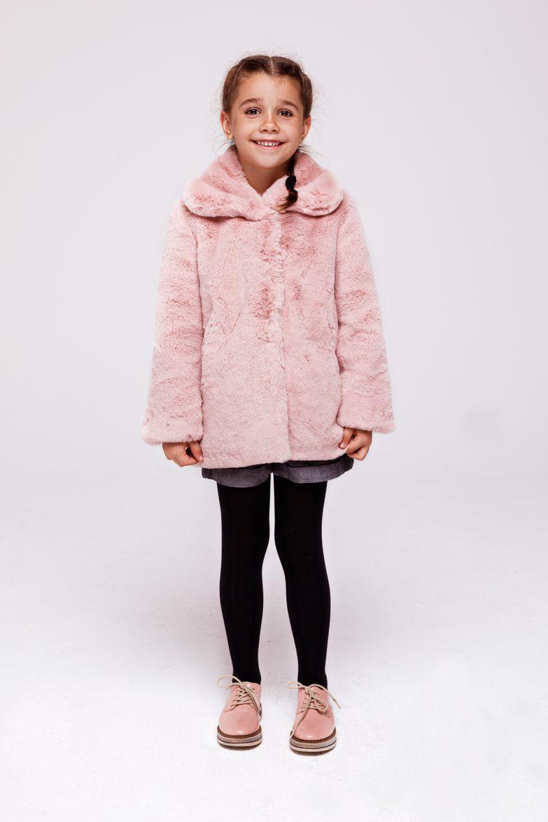 Różowe Futerko Dziecięce SMOKEFURS KIDS